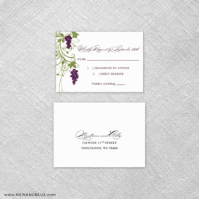 Grapevine 6 Reception Card And Rsvp Card