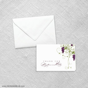 Grapevine 8 Thank You Card