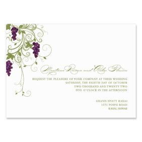 Grapevine Wedding Invitation