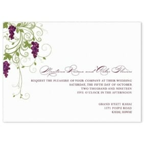 Grapevine Wedding Invitation