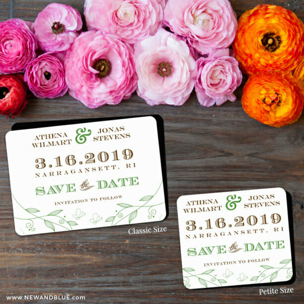 Happy Day 2 Save The Date Magnet Classic And Petite Size1