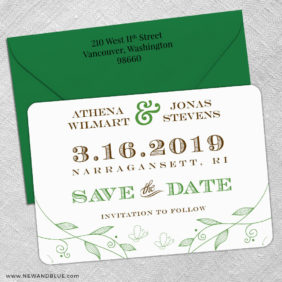 Happy Day 5 Save The Date With Optional Color Envelope1