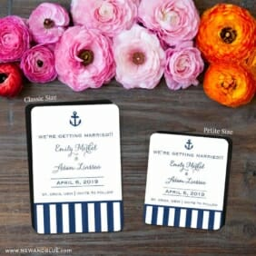 Harborside 2 Save The Date Magnet Classic And Petite Size