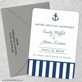 Harborside 5 Save The Date With Optional Color Envelope