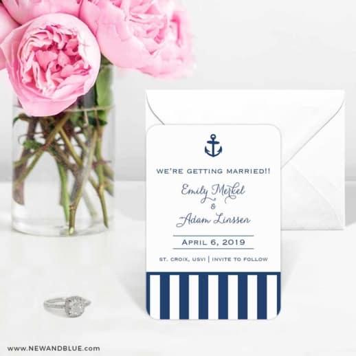 Harborside 6 Wedding Save The Date Magnets