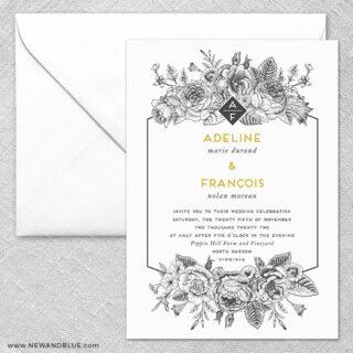Harlow 2 Invitation And Envelope