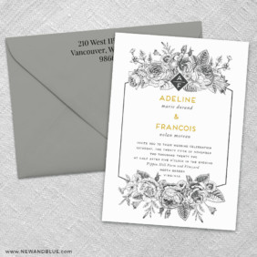 Harlow 3 Invitation And Color Envelope