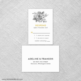 Harlow 6 Reception Card And Rsvp Card