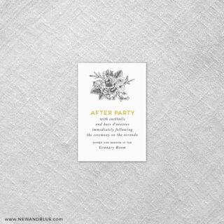 Harlow 7 Reception Card