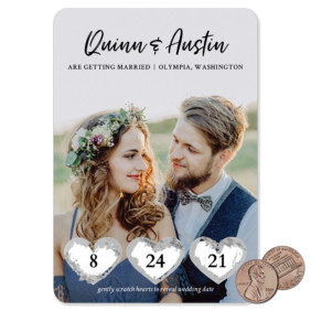 Heart Trio 1 Scratch Off Save The Date Magnets