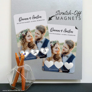 Heart Trio 8 Scratch Off Magnetic Save The Date