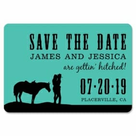 Hitched 1 Save The Date Magnets