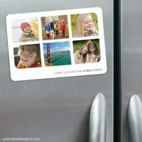 Holiday Collage 3 Refrigerator Save The Date Magnets