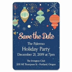 Holiday Merriment 1 Save The Date Magnets