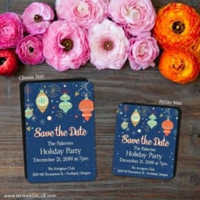 Holiday Merriment 2 Save The Date Magnet Classic And Petite Size