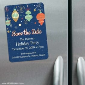 Holiday Merriment 3 Refrigerator Save The Date Magnets
