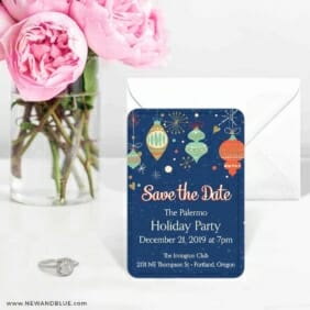Holiday Merriment 6 Wedding Save The Date Magnets
