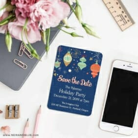 Holiday Merriment 7 Wedding Save The Date Magnets