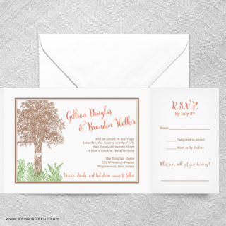 Hope All In One Wedding Invitation With RSVP Postcard