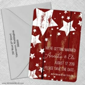 In The Stars 5 Save The Date With Optional Color Envelope