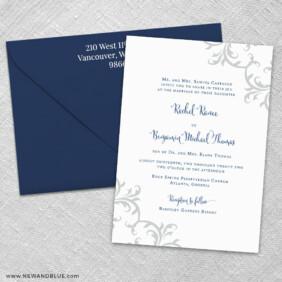 Isabella 3 Invitation And Color Envelope