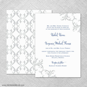 Isabella 4 Invitation Shown With Back Printing
