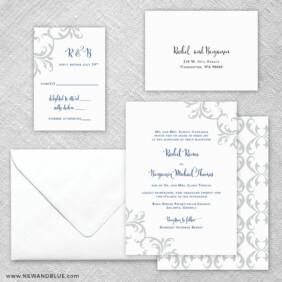 Isabella 5 Wedding Invitation And Rsvp Card
