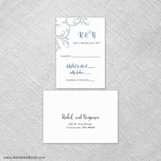 Isabella 6 Reception Card And Rsvp Card