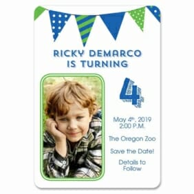 Its A Birthday 1 Save The Date Magnets