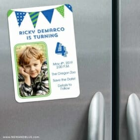 Its A Birthday 3 Refrigerator Save The Date Magnets
