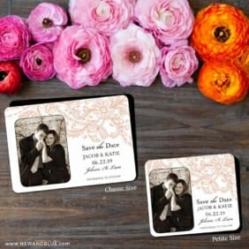 Jalousie 2 Save The Date Magnet Classic And Petite Size
