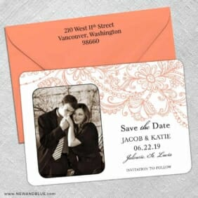 Jalousie 5 Save The Date With Optional Color Envelope