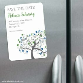 Jerusalem Bat Mitzvah 3 Refrigerator Save The Date Magnets