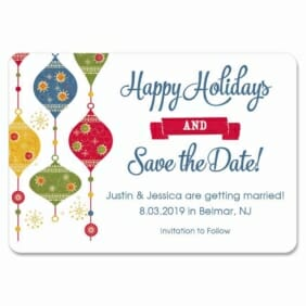 Jingle Bells 1 Save The Date Magnets