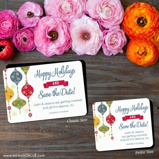 Jingle Bells 2 Save The Date Magnet Classic And Petite Size