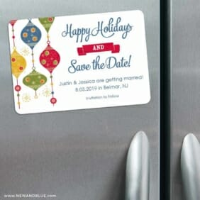 Jingle Bells 3 Refrigerator Save The Date Magnets