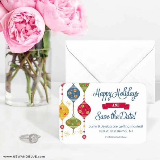 Jingle Bells 6 Wedding Save The Date Magnets