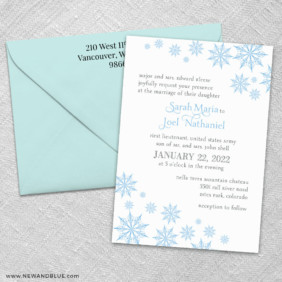 Joyful 3 Invitation And Color Envelope