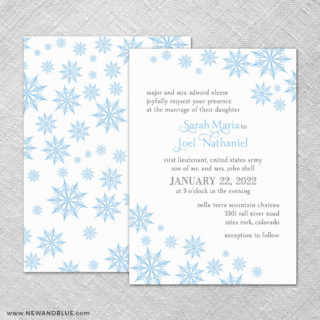 Joyful 4 Invitation Shown With Back Printing