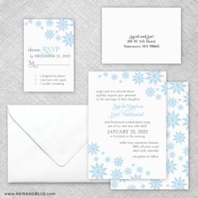 Joyful 5 Wedding Invitation And Rsvp Card