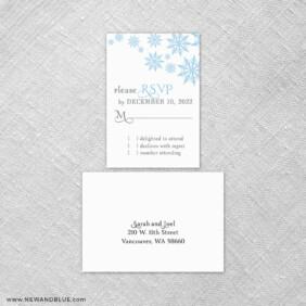 Joyful 6 Reception Card And Rsvp Card