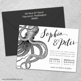 Jules 3 Invitation And Color Envelope