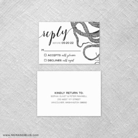 Jules 6 Reception Card And Rsvp Card