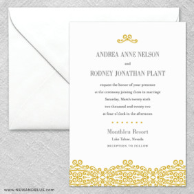 Juliet 2 Invitation And Envelope