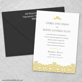 Juliet 3 Invitation And Color Envelope