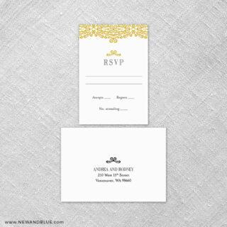 Juliet 6 Reception Card And Rsvp Card