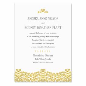 Juliet Wedding Invitation