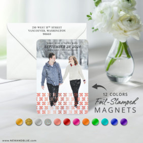 Just A Reminder 7 Foil Wedding Save The Date Magnet