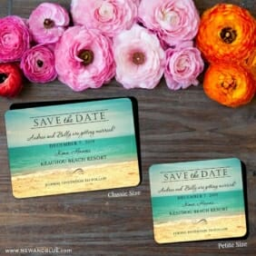 Kona 2 Save The Date Magnet Classic And Petite Size