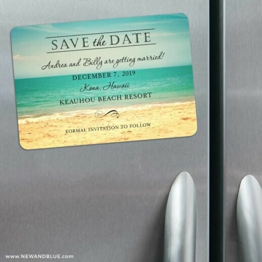 Kona 3 Refrigerator Save The Date Magnets